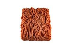 Köttfärs på vit bakgrund Royaltyfri Fotografi