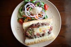 Köttfärslimpasmörgås Royaltyfria Foton