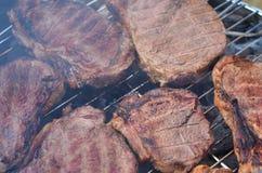 Köttgaller, grillfestcloseup Fotografering för Bildbyråer
