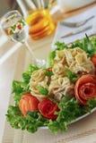 Köttklimpar med grönsaker Arkivfoto