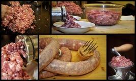 Köttkvarn och köttfärs Royaltyfria Foton