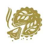 Köttpaj rulle, pajillustration Royaltyfri Bild