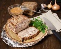 Köttpate för matställe Royaltyfri Fotografi