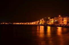 Küçükkuyu Town at longshore  Royalty Free Stock Images