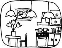 Küche lizenzfreie abbildung