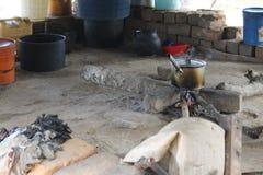 Küche in Afrika Lizenzfreies Stockfoto