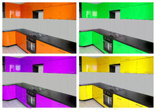 Küche 2D Vektorillustration Lizenzfreie Stockfotos