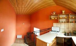 Küche in der Halle stockbilder