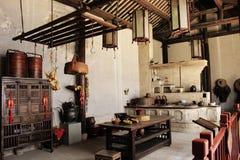 Küche des traditionellen Chinesen Stockfotografie