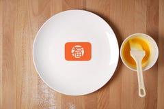 Küche, die sich vorbereitet, chinesische festliche Waren zu machen Lizenzfreie Stockbilder