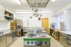 Küche in einem Hotel oder in einem Restaurant Stockfoto