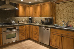 Küche (gewinkelt) Stockbild