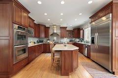 Küche im comtemporary Haus Stockbild