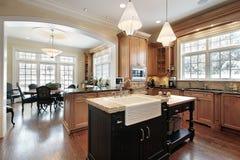 Küche im Luxuxhaus Stockbild