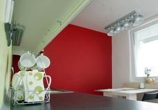Küche-Innenraum stockfotos