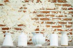 Küche keramisch mit rostiger Wandkunst Lizenzfreie Stockfotos