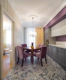 Küche Minimalistic-Innenraum Lizenzfreie Stockfotografie