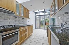 Küche mit Atrium Stockbilder
