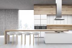 Küche mit dem Ofen, vorder vektor abbildung