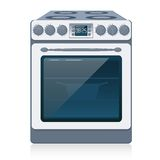 Küche-Ofen getrennt auf Weiß. Vektor. Lizenzfreie Stockfotos