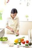 Küche, Pizza, machen Lizenzfreie Stockfotografie