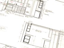 Küche-Plan stockfotografie
