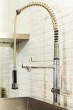 Küche, Stahlhahn Stockfotografie