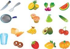 Küche trägt Veggies Vektor Früchte Lizenzfreie Stockbilder