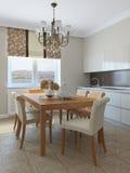 Küche und Esszimmer. Lizenzfreie Stockbilder