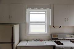 Küche und Nebel im Fenster Lizenzfreies Stockbild