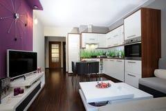 Küche und Wohnzimmer Lizenzfreie Stockfotos