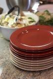 Küche vor Mahlzeit Stockfotos