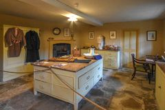 Küche Wimpole Hall stockbild