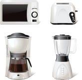 Kücheausrüstungsikonen für Fenster, Druck, Vektor Stockfotos