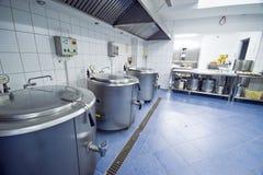 Küchegroße kessel Stockfoto