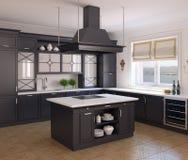 Kücheinnenraum. Lizenzfreie Stockfotografie