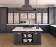 Kücheinnenraum. Lizenzfreie Stockfotos