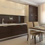 Kücheinnenraum. Stockbilder