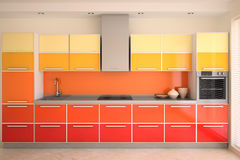 Kücheinnenraum. Stockbild