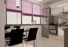 Kücheinnenraum Lizenzfreie Stockfotos