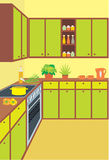 Küchemöbel. Innen Lizenzfreie Stockbilder