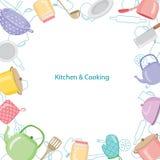 Küchen-Ausrüstungs-Grenze Lizenzfreie Stockbilder