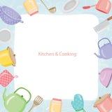 Küchen-Ausrüstungs-Grenze Lizenzfreies Stockbild