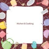 Küchen-Ausrüstungs-Grenze Lizenzfreies Stockfoto