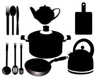 Küchen-Satz Stock Abbildung