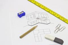 Küchen-Skizze Stockbilder