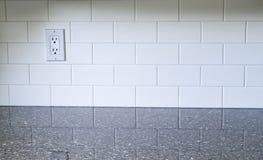 Küchen-Weiß Backsplash lizenzfreie stockbilder