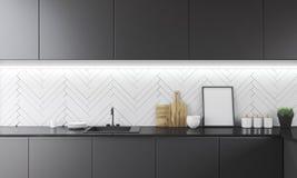 Küchenarbeitsplatte mit Bild Lizenzfreies Stockbild