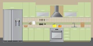 küchenbedarf Fotoillustrationsart Stockbild