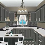 Küchendesign Stockbild